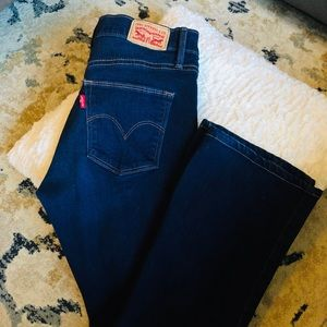 Women's Levi Slimming Boot Jeans